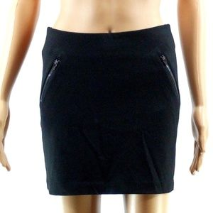 bebe Size XS Black Mini Skirt Back Zipper NWT